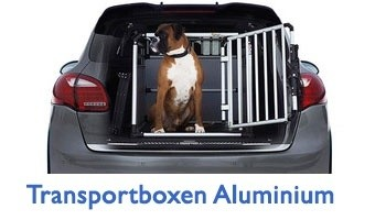 Hundetransportbox - Aluminium